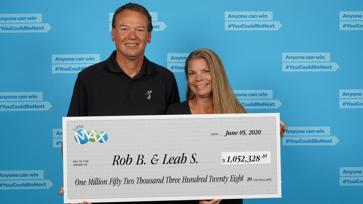 Robert Bitte and Leah Schmidt won $1,052,328.10 in the Lotto Max draw on May 1.