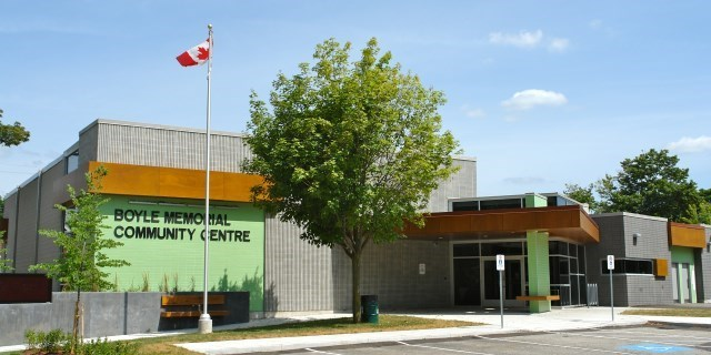 Boyle Memorial Community Centre at 530 Charlotte Ave.
