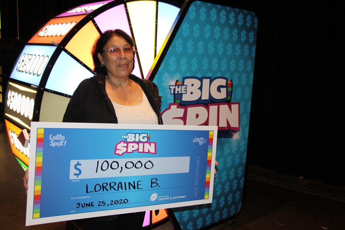 Lotto winner Lorraine Bruyere.