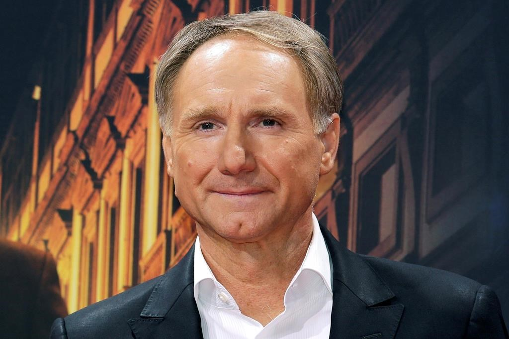 Author Dan Brown arrives for the premiere of the movie 'Inferno' in Berlin.