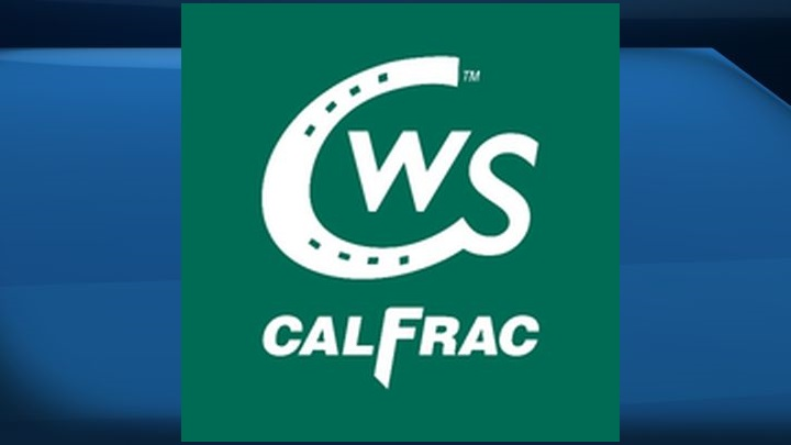 A file photo of the logo for Calfrac Well Services.