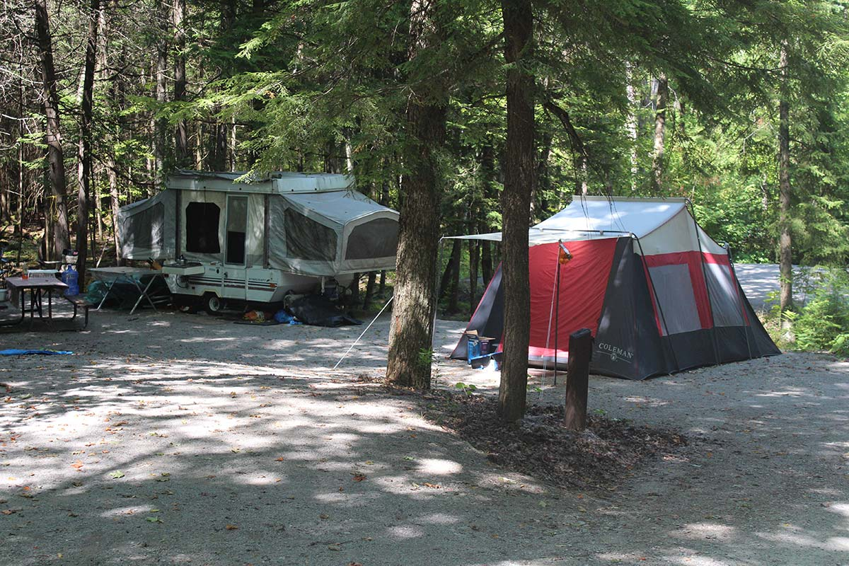 Camping at Warsaw Caves and Beavermead campgrounds will reopen on Friday.