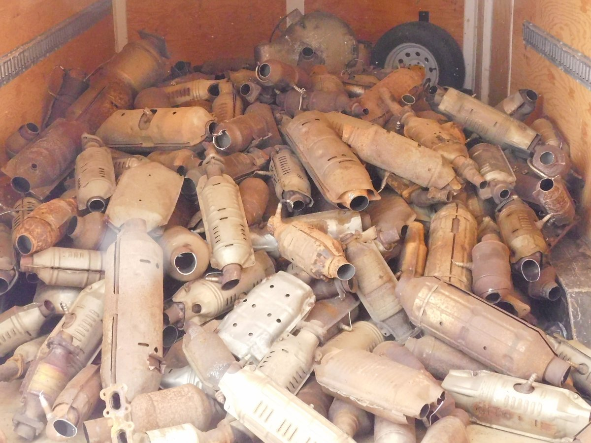 A total of 426 stolen catalytic converters were recovered in Edmonton during an arrest last year.