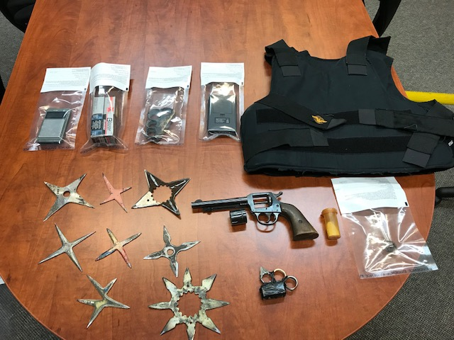 Various weapons and paraphernalia discovered in Dauphin by the RCMP's West District CREST team.