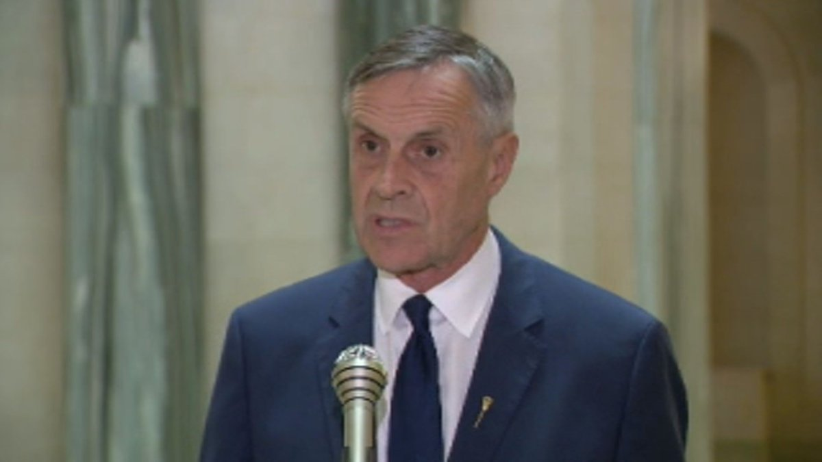 Saskatchewan is lifting the moratorium on evictions for non-payment of rent, Justice Minister Don Morgan, pictured here in a file photo, announced on Tuesday.