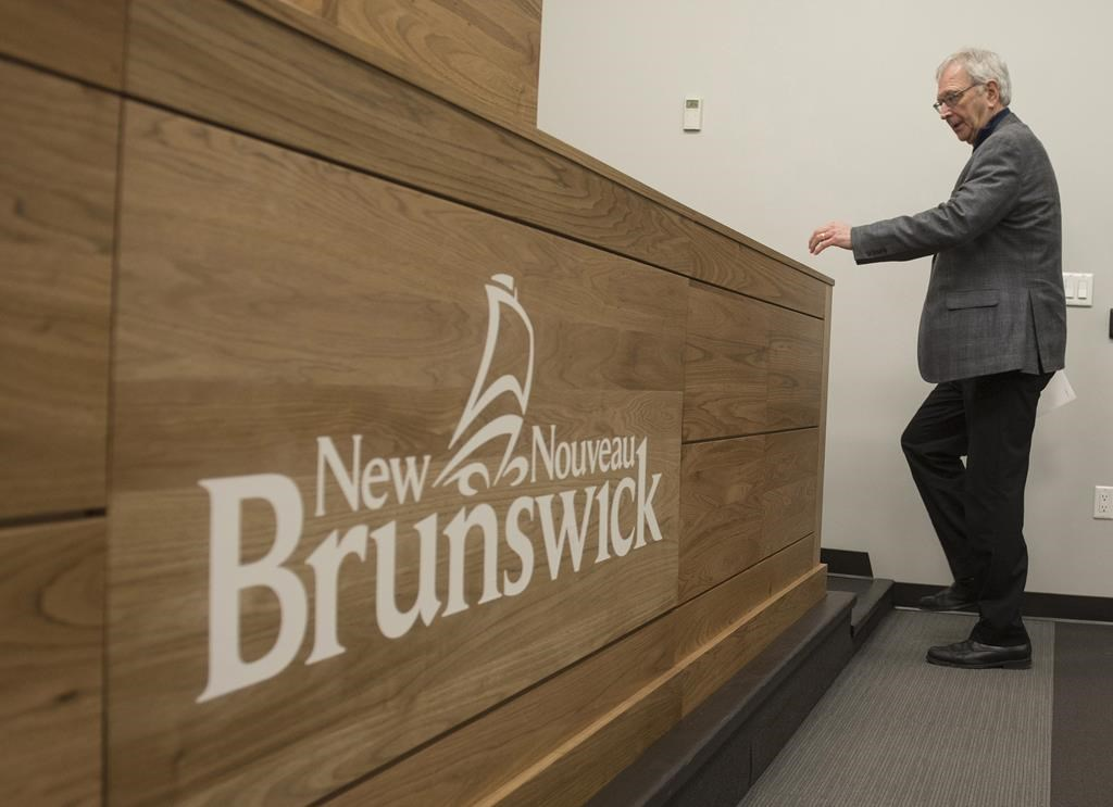 New Brunswick Premier Blaine Higgs speaks with the media in Fredericton on Monday February 17, 2020.