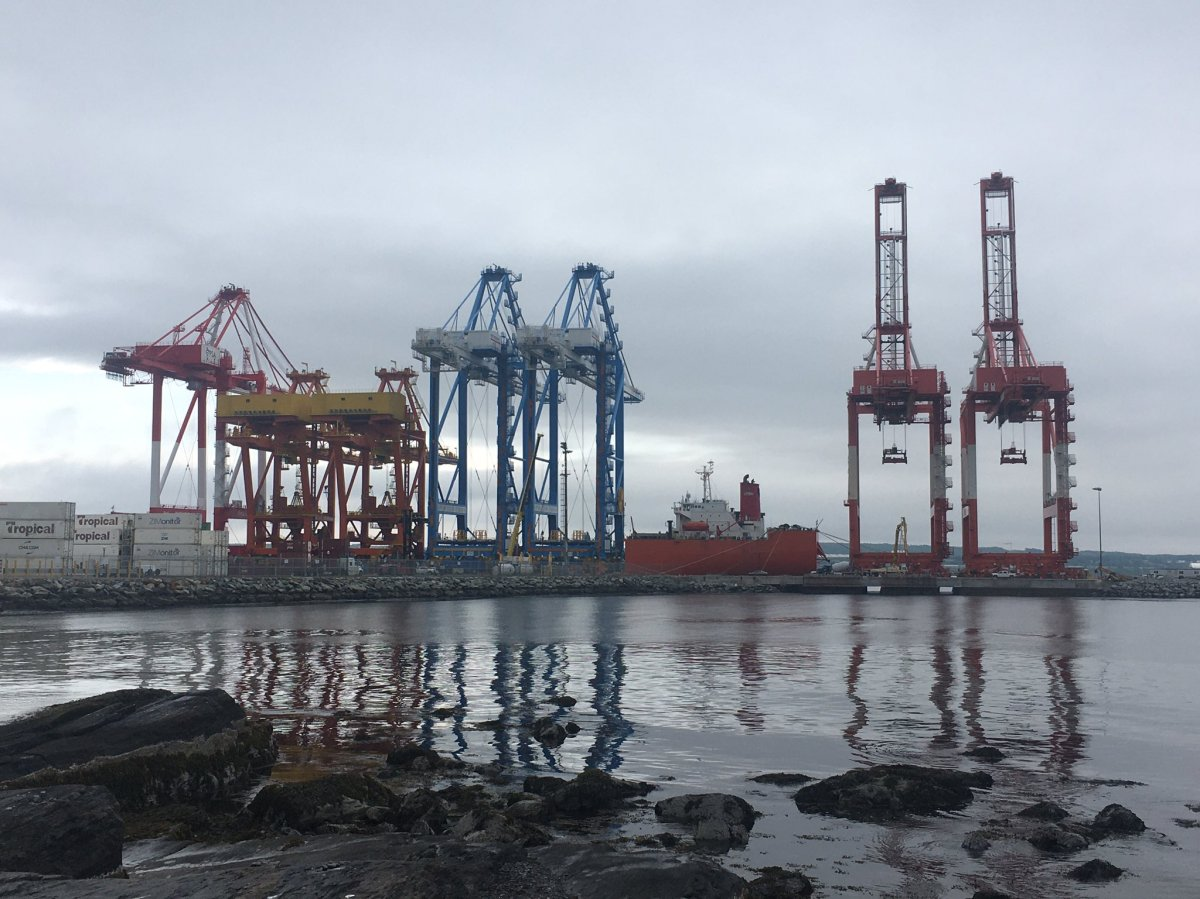The Zhen Hua 29 arrives in Halifax, N.S., on June 29, 2020, to deliver a new Super Post Panamax crane for PSA Halifax.