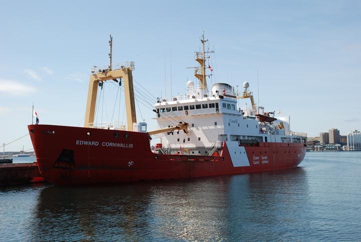 The icebreaker is known as Canadian Coast Guard Ship Edward Cornwallis.