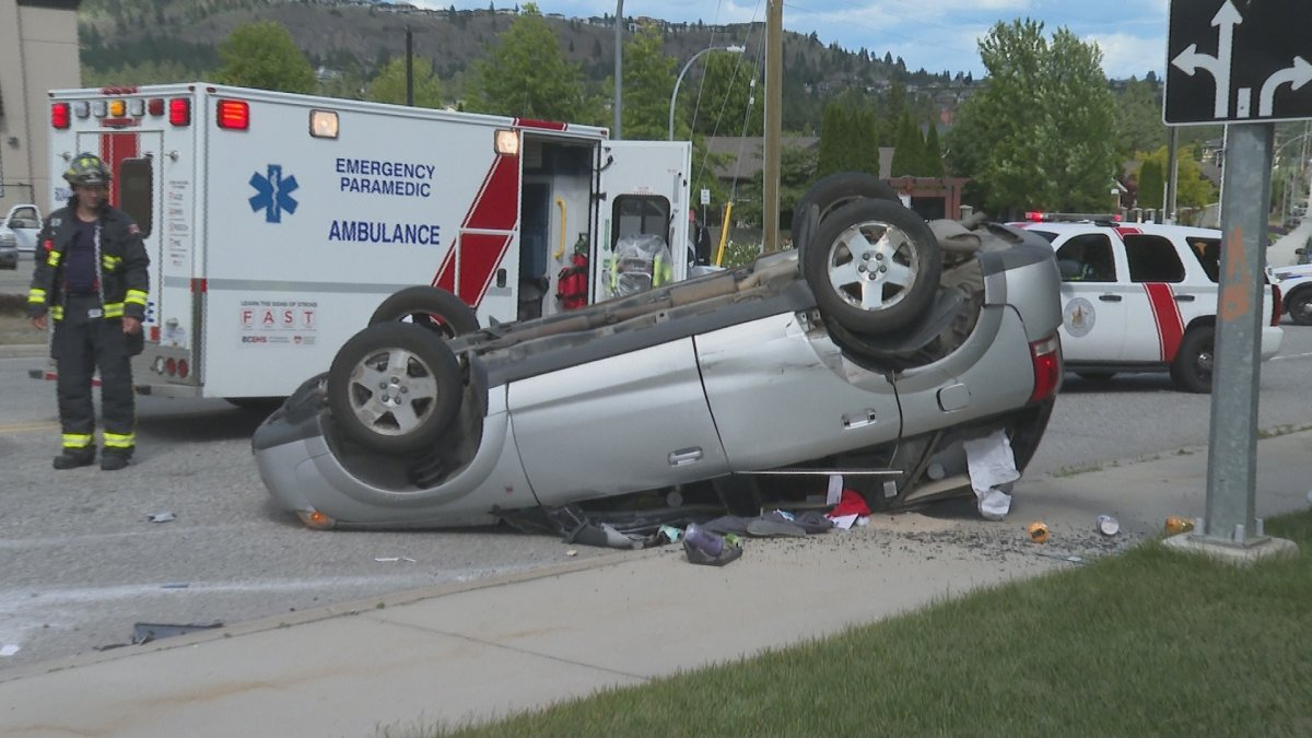 Officials said the driver and sole occupant of the van was rushed to hospital. The truck driver appeared to be fine.