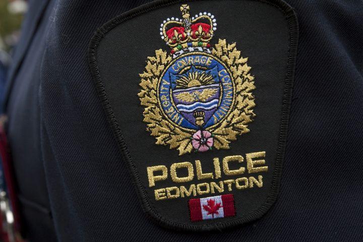 A file photo of an Edmonton Police Service badge.