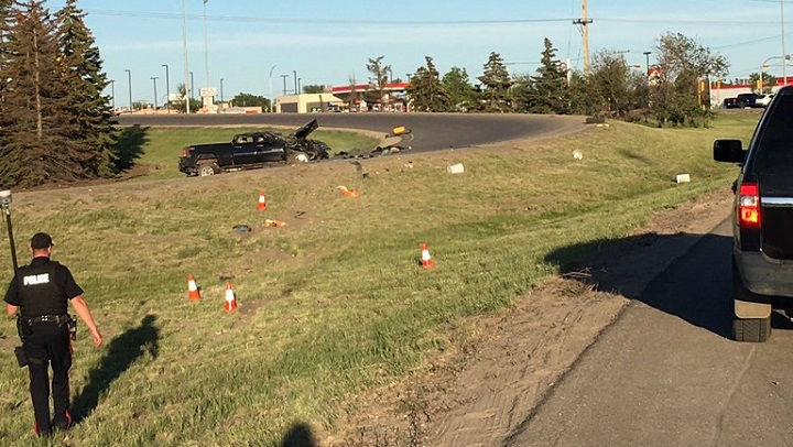 A man, 27, is in hospital with injuries described as life-threatening, following a crash on Ring Road in Regina on Monday.