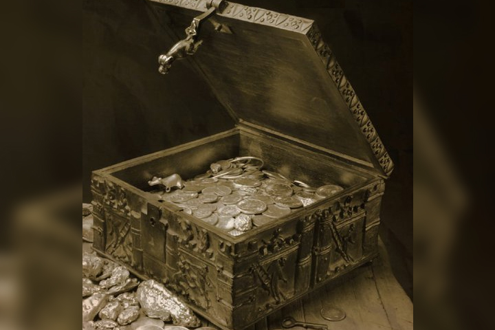 Forrest Fenn's treasure chest is shown in this 2010 photo.