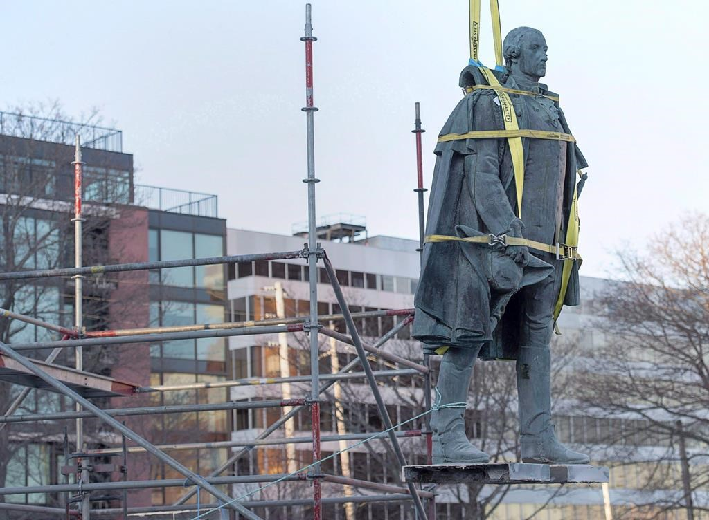 The statue of Edward Cornwallis was removed from what's now known as the Peace and Friendship Park in 2018.
