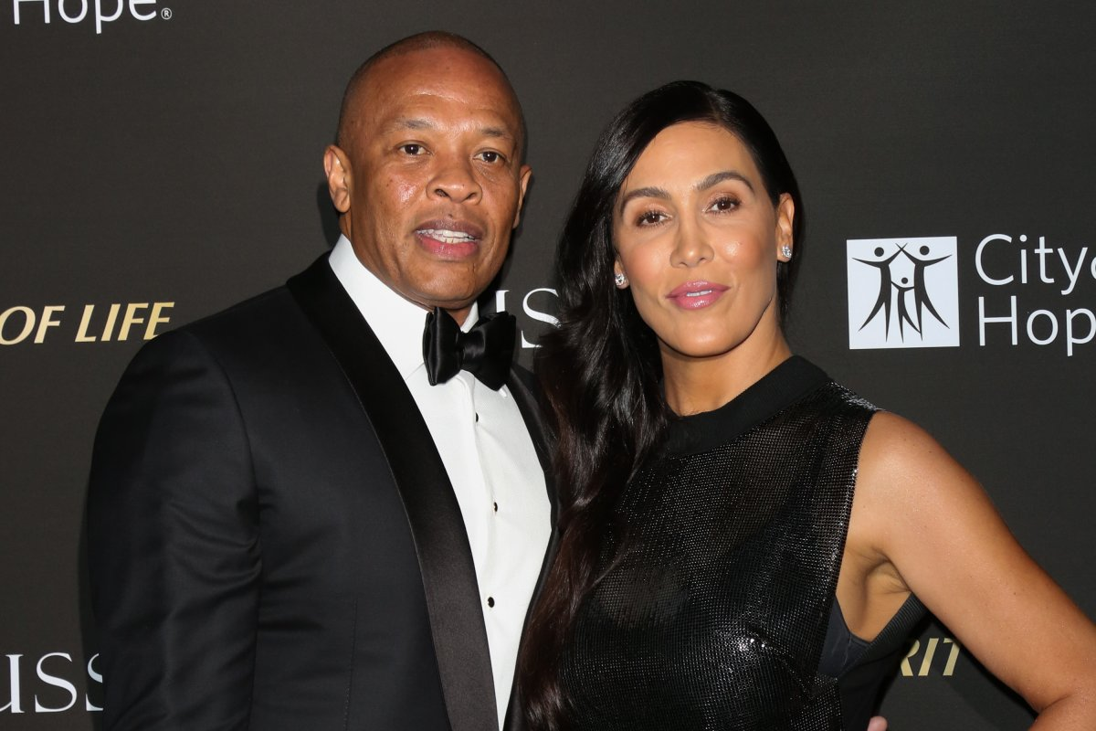 Rapper  and music producer Dr. Dre and his wife Nicole Young attend the City of Hope Gala on Oct. 11, 2018 in Los Angeles, Calif.