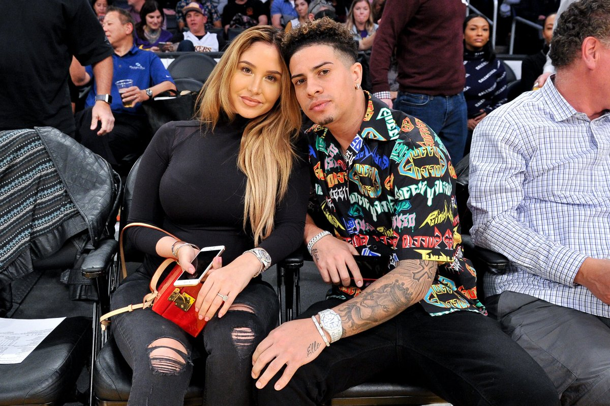 Austin McBroom and Catherine Paiz in a January 2019 file photo.