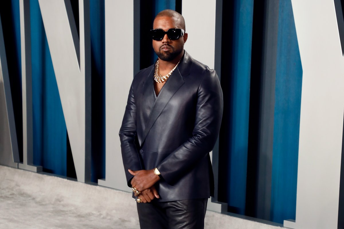 Kanye West attends the 2020 Vanity Fair Oscar party at Wallis Annenberg Center for the Performing Arts on Feb. 9, 2020 in Beverly Hills, Calif.