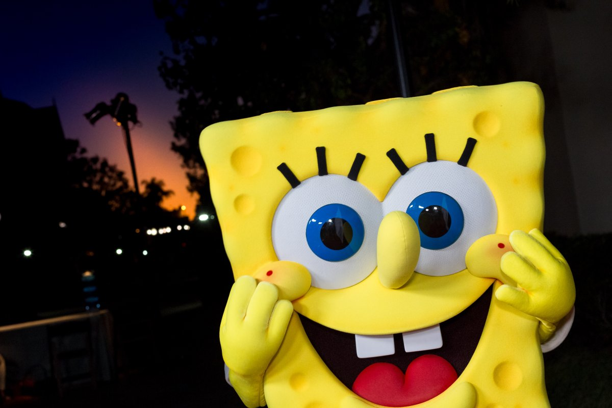 Spongebob Squarepants arrives at the 2017 Princess Grace Awards Gala Kick Off Event  at Paramount Pictures on October 24, 2017 in Los Angeles.
