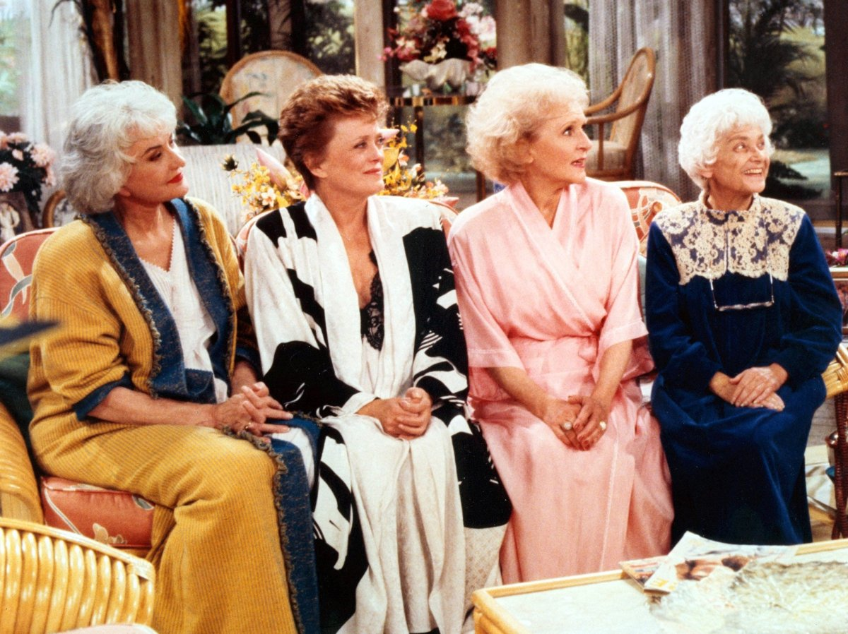'The Golden Girls': (L-R) Bea Arthur, Rue McClanahan, Betty White and Estelle Getty.