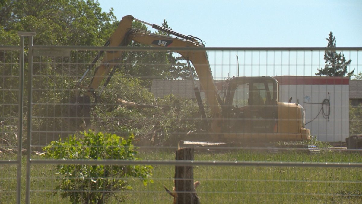 Trees are being removed outside of Regina's Pioneer Village, to make room for a parking lot in order to accommodate more parking at Government House.
