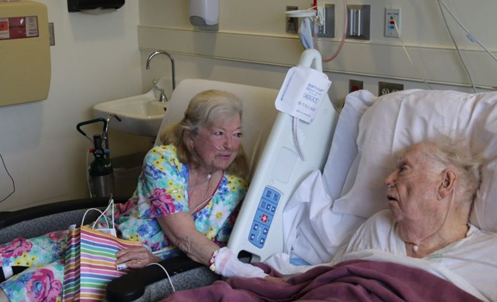 Virginia Mitchell Edwards and her husband Ollie Herbert Edwards celebrated their 65th anniversary while hospitalized for COVID-19.
