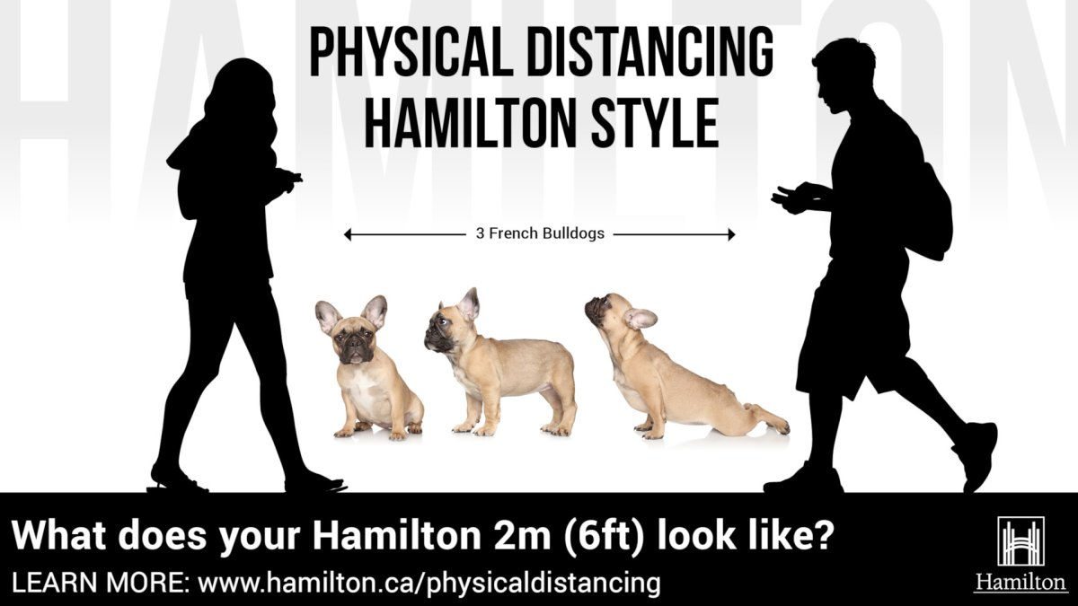 Public health has launched it's 'Physical Distancing Hamilton Style' campaign targeting people aged 20  through 29 in the hopes of slowing down an increase in cases among the age group.