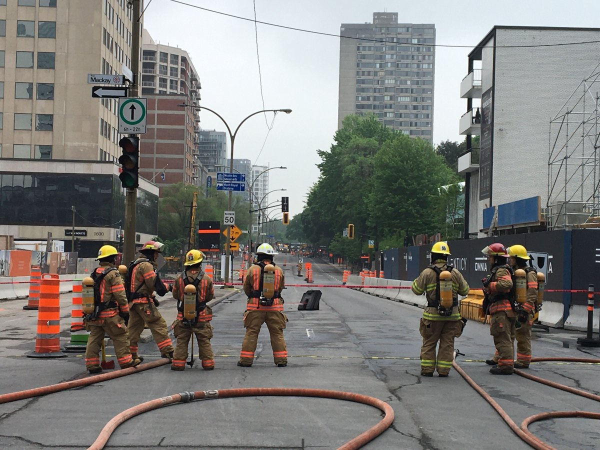 Fire department spokesperson Stephanie Lorrain said the leak was detected at 10 a.m. and firefighters are still trying to contain it as of 1:30 p.m. Wednesday afternoon.