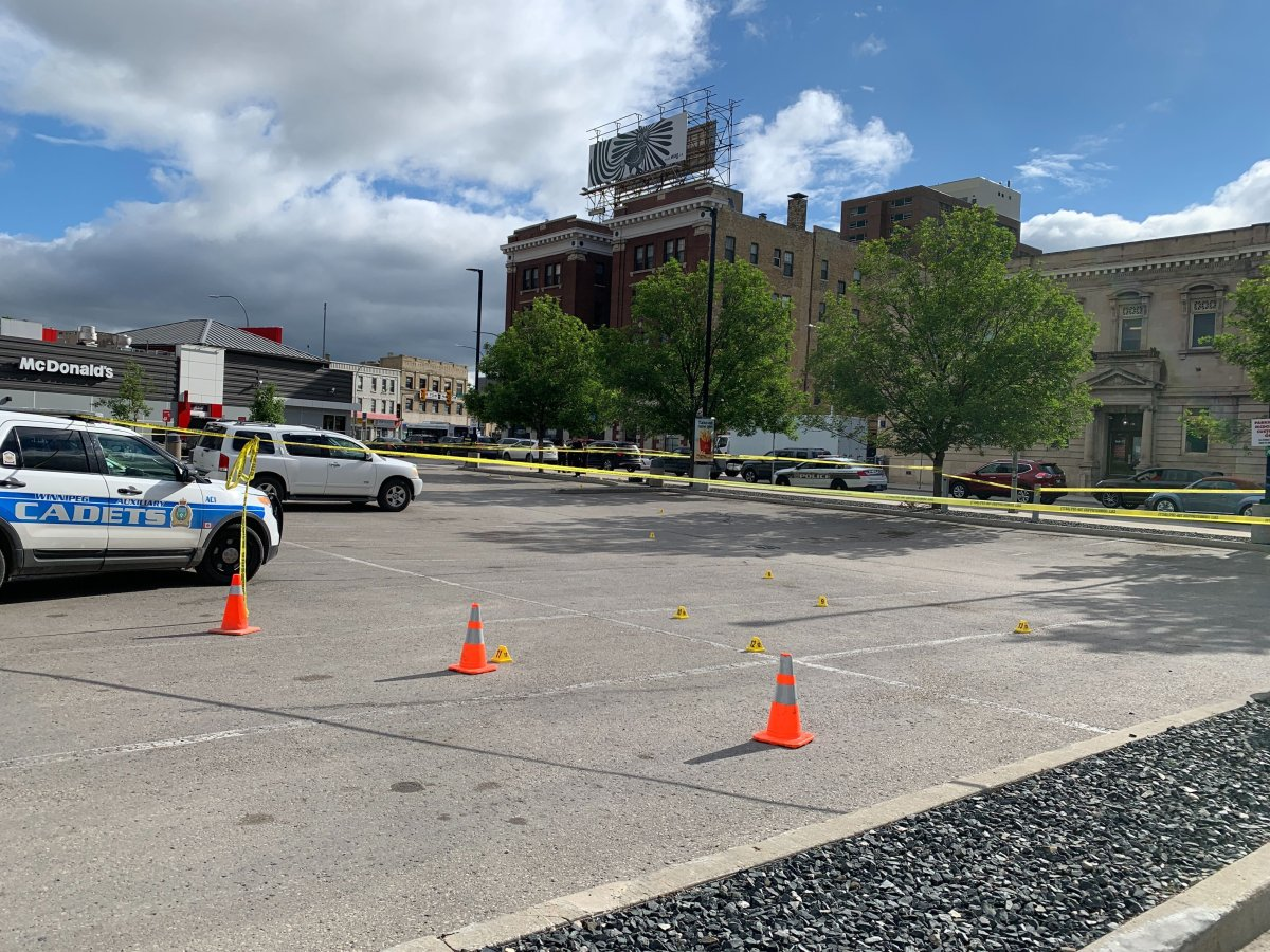 Winnipeg police on the scene Friday.