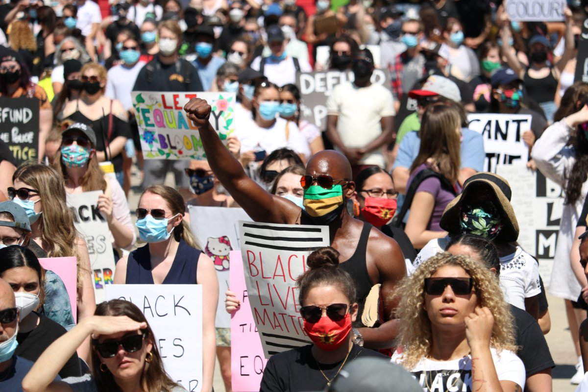 Thousands of Londoners came out in support of the Black Lives Matter rally in London on Saturday.