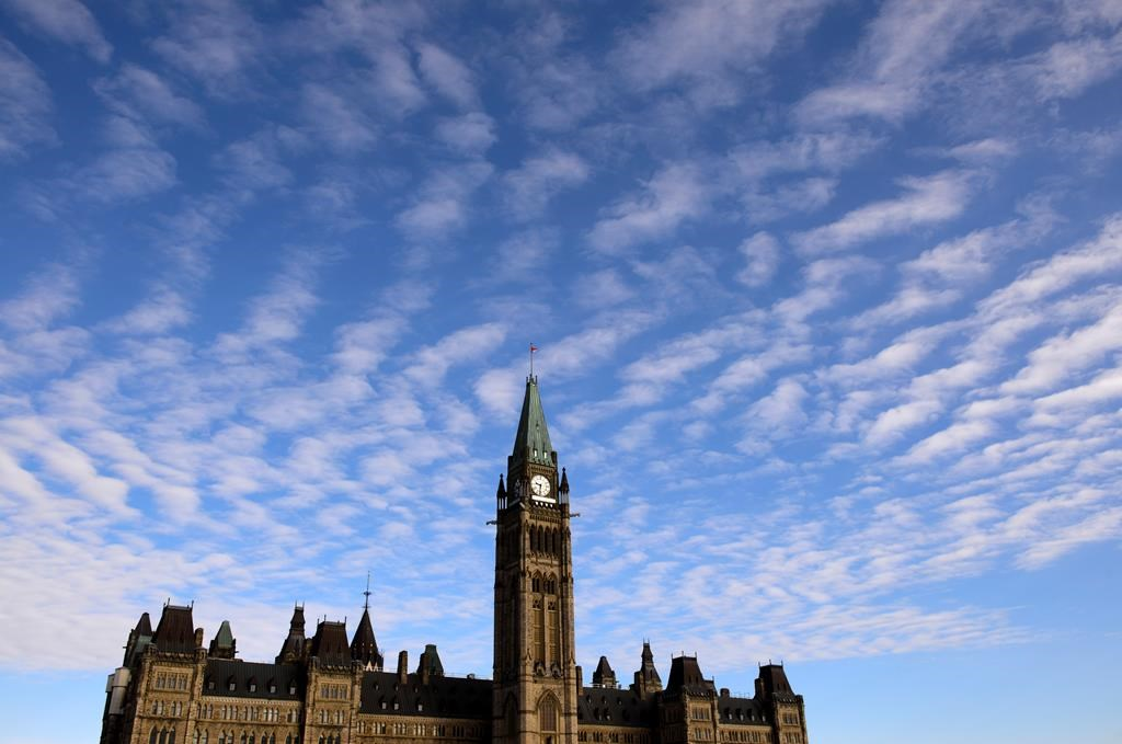 Parliament Hill is shown in Ottawa on March 11, 2020.
