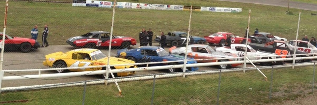 Racers prepare for an event at Kings Park Speedway.