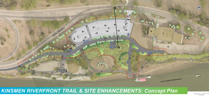 The proposed enhancements spans from the Nutrien Wonderhub to the Shakespeare on the Saskatchewan site.