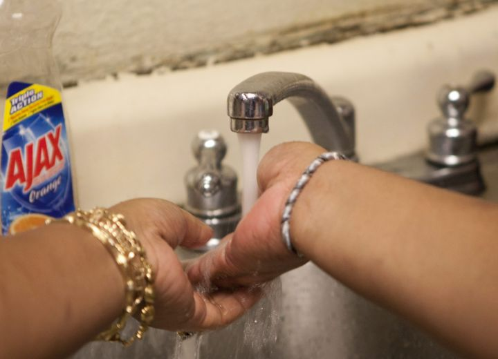 A file photo of someone washing their hands.