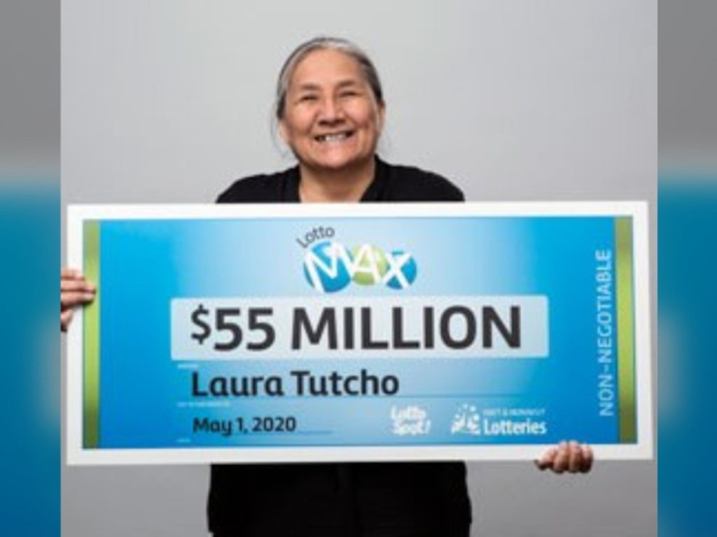 Laura Tutcho of Yellowknife is the winner of the Northwest Territories' largest-ever lottery jackpot of $55 million.