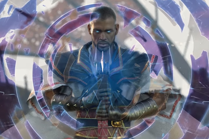 Promotional artwork is shown from the latest edition of Magic: The Gathering.