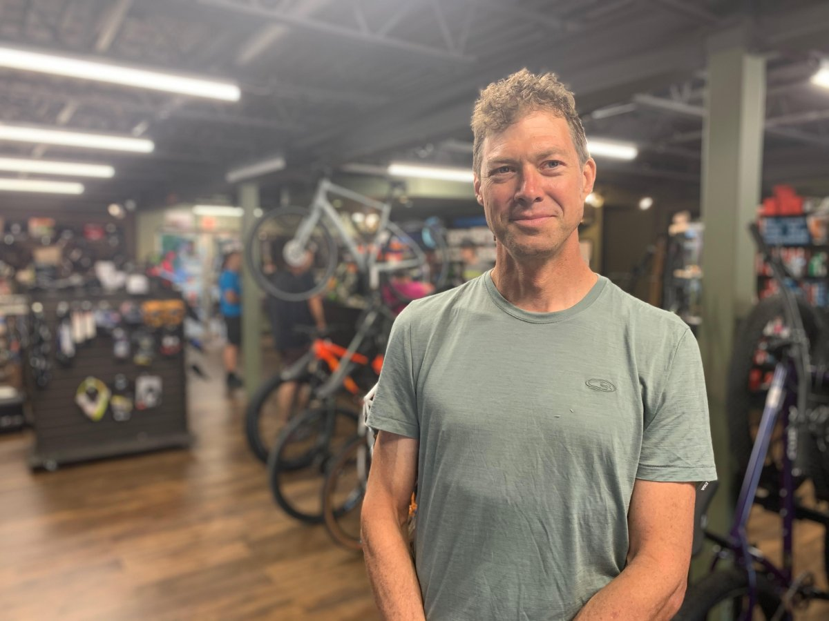 Mike Davis the owner of Radical Edge says the lack of green space for leisure activities in the Odell plan is concerning.