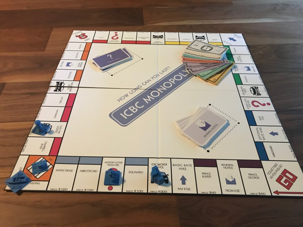 An unknown individual or organization has produced an ICBC Monopoly board game criticizing the public insurer.