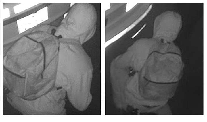 Images from video surveillance in Nakusp, B.C., showing the alleged suspect.