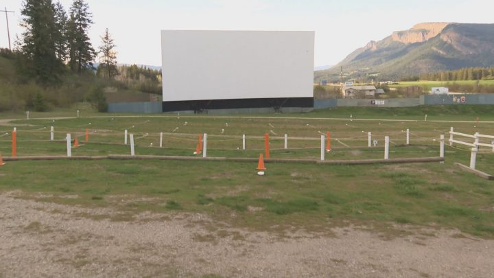 Grads, friends and family got a special viewing of their ceremony at a drive-in theatre in Enderby.