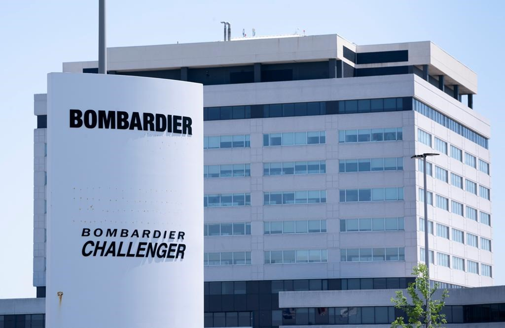 A Bombardier plant is seen in Montreal on Friday, June 5, 2020. The federal Liberal government is buying two new Challenger jets from Bombardier to replace half the military's existing executive aircraft fleet.