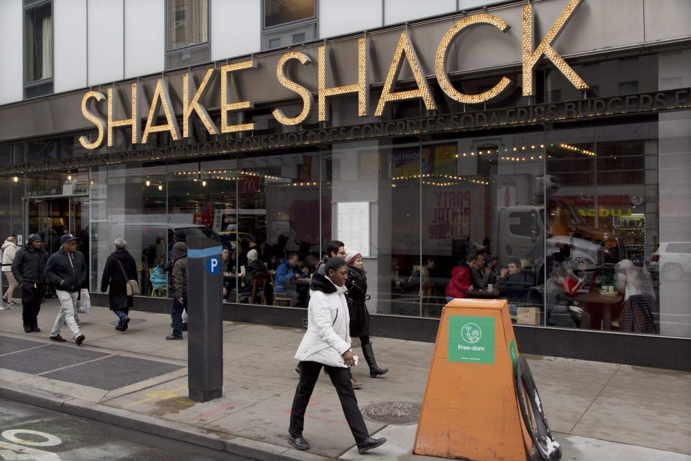 A Shake Shack restaurant is shown in New York City in this March 4, 2016 file photo.