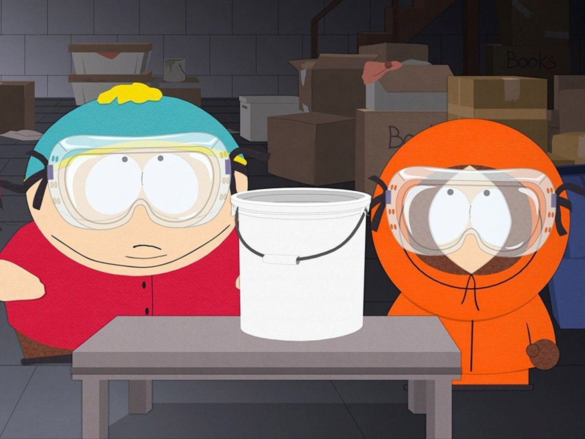 'South Park' from left: Eric Cartman (voice: Trey Parker) and Kenny McCormick (voice: Matt Stone) in 'Turd Burglars' (Season 23, ep. 2308, aired Nov. 27, 2019).