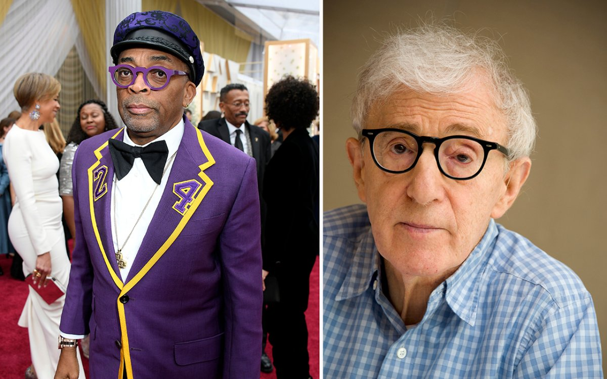 (L-R): Spike Lee and Woody Allen.