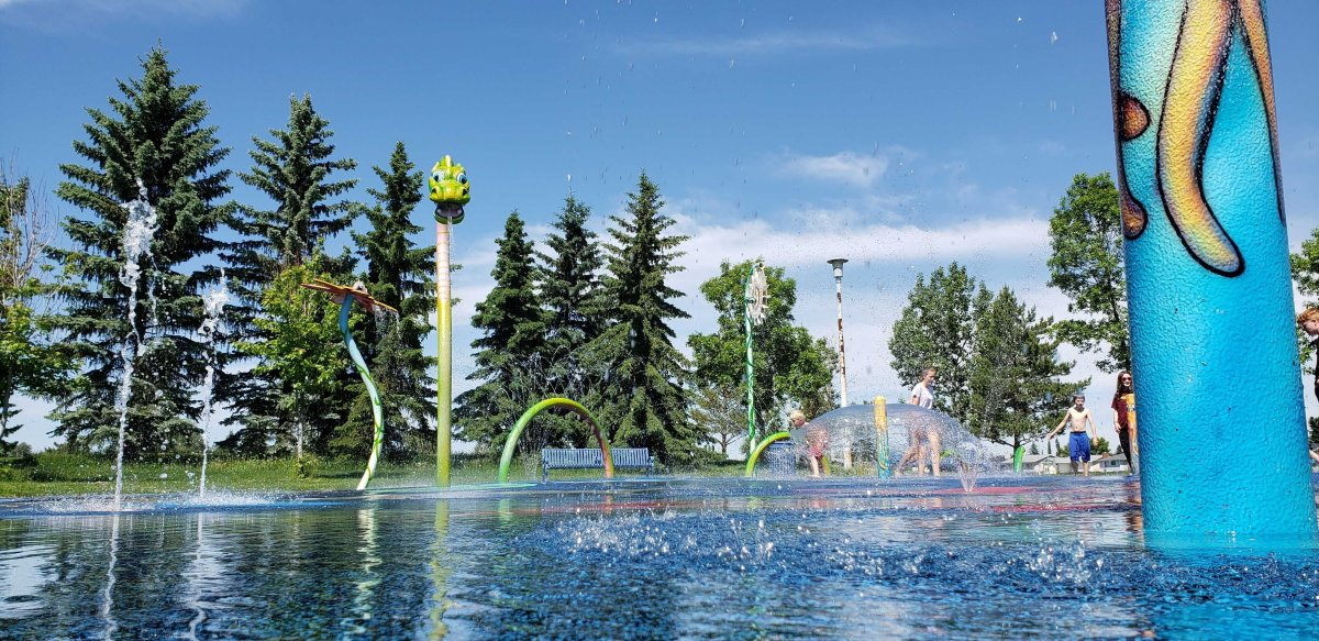 The City of Edmonton is reopening some of its spray parks and rec centres, Friday, June 19, 2020.