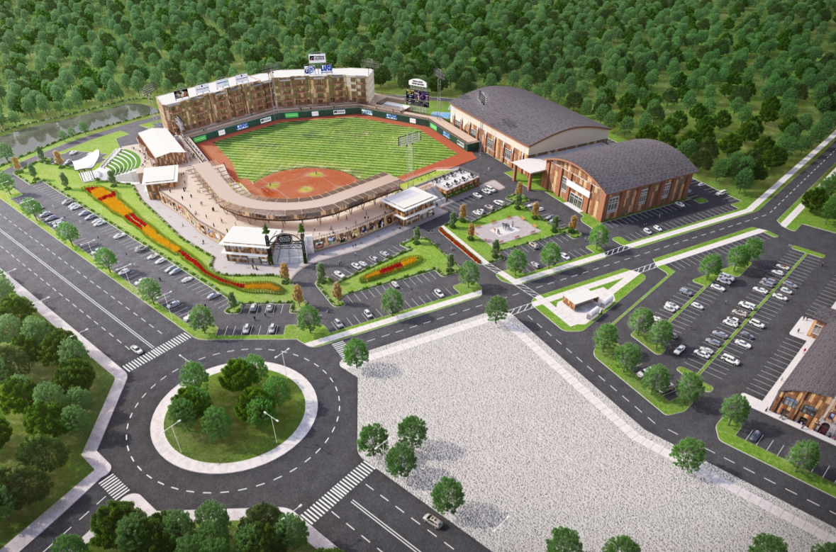 A rendering of the new baseball field in Spruce Grove, Alta., for the Edmonton Prospects.