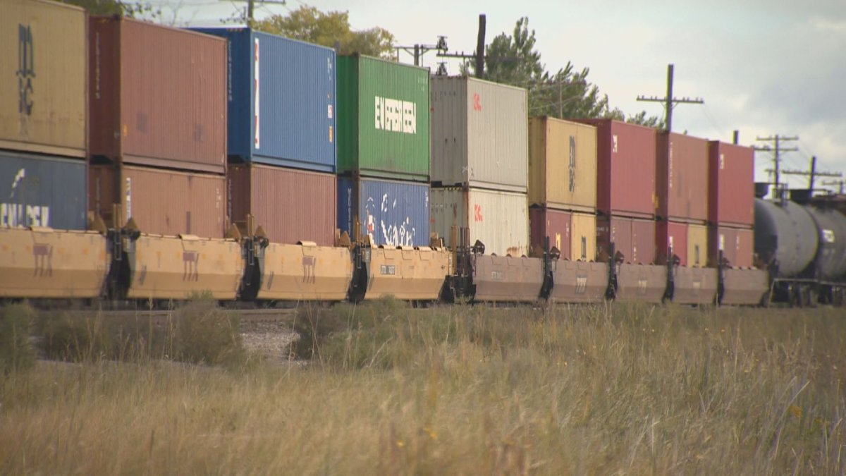 The Winnipeg Fire Paramedic Service says a passing train is likely responsible for sparking a wildfire Sunday evening.