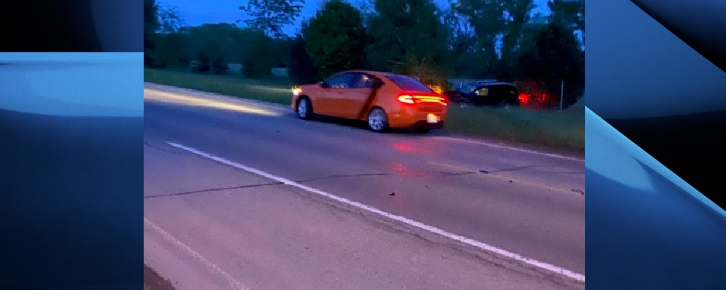 Police say the driver and passenger from the vehicle who struck the vehicle in front of it were then picked up by another vehicle that then fled the scene.