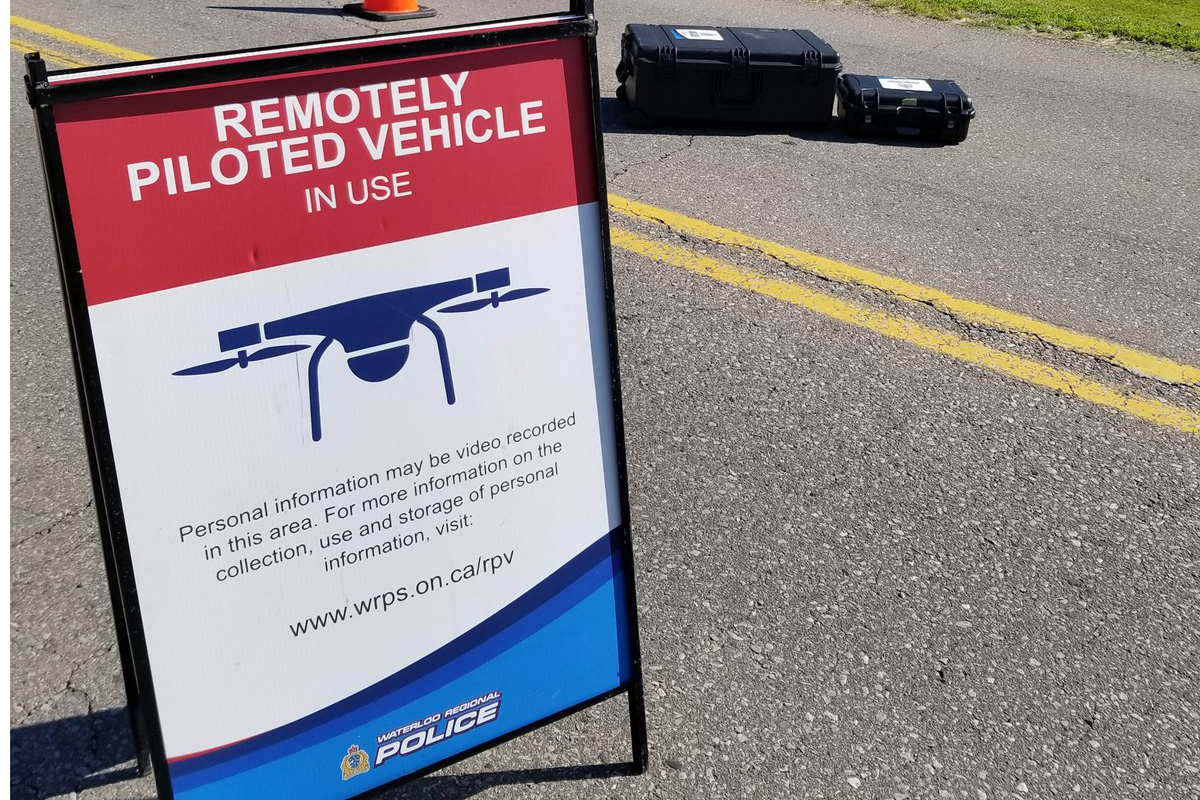 Waterloo Regional Police used a remotely piloted vehicle to track down a man in distress on Friday morning.