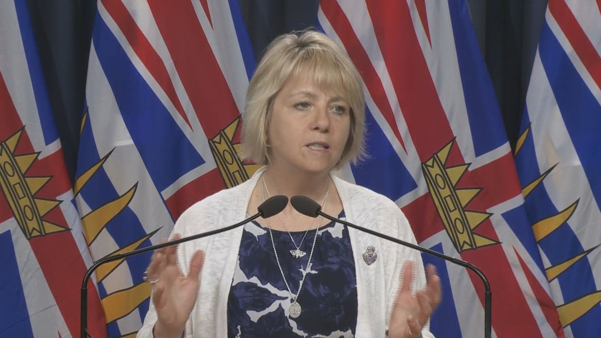 Provincial health officer Dr. Bonnie Henry speaks to reporters on June 24, 2020.