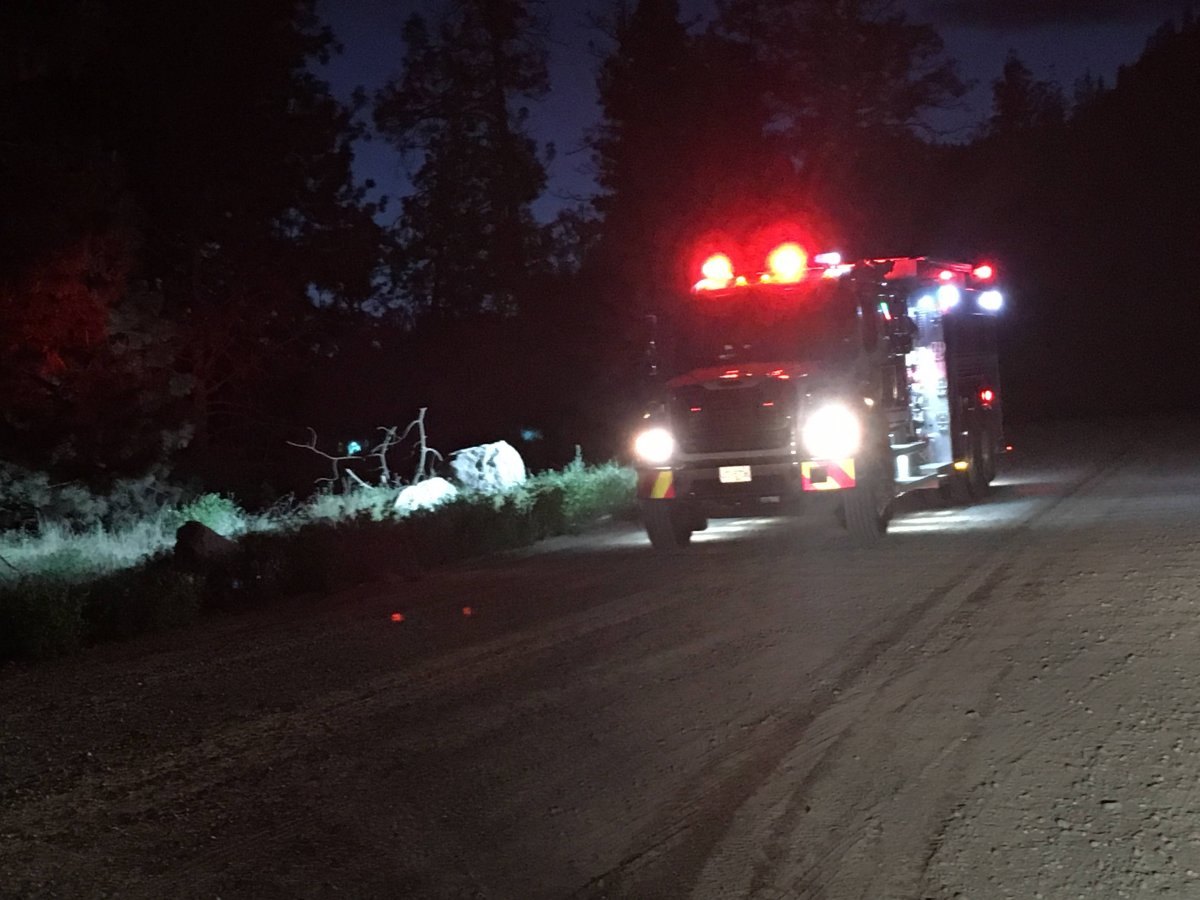 West Kelowna Fire Rescue was called out to Griffiths Place just after 3 a.m. Monday.  When they arrived, they discovered an outbuilding fully engulfed in flames.