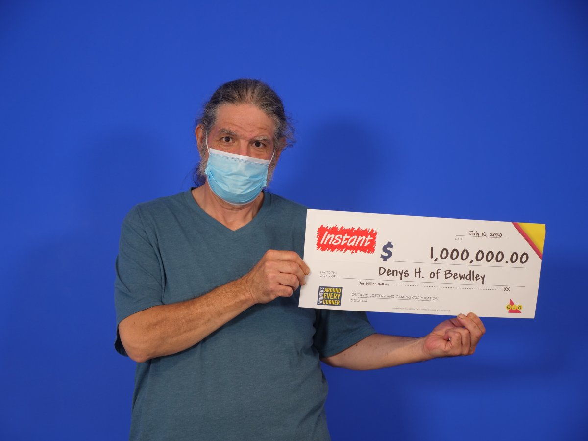 Denys Haynes of Bewdley is $1 million richer after winning a top prize with the OLG's Instant Royale.